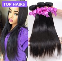Wholesale Brazilian Virgin Hair Straight Bundles Straight Brazilian Hair g pc Human Hair Extensions Bele Unprocessed Virgin Hair