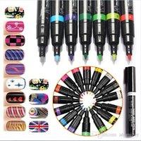 Wholesale 3D DIY Nail Art Pen Colors Nail Art Tools Polish UV Gel Painting Dot Drawing UV Gel Design D Nail Art DIY Decoration