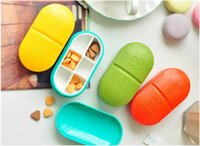 Wholesale 2016 High Quality Mini Slots Cute Pill Box Plastic Storage Case Shell Portable Pill Case