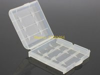 Wholesale 500pcs Fedex DHL Colorful Battery Case Plastic AA AAA Battery Storage Box Bottle