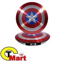 / Cargador portátil El Capitán América Vengadores Escudo de carga Fuente de alimentación móvil banco de la energía 6800mAh mayor-caliente Sólido USB Dual Shell
