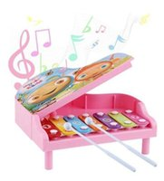 Wholesale Big boy toy piano infants and young children play house early childhood music hand knocking piano New Teaching Aids