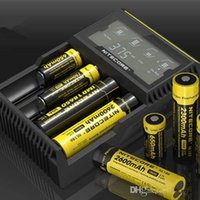 Wholesale nitecore d4 MOQ New Digicharger LCD Display Battery Charger Universal Nitecore Retail Package with Charging Cable