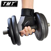 bicycle fitness equipment - Professional Breathable Fitness Gloves Sports Half Finger wrist gym equipment bicycle anti skid weightlift gloves Pair