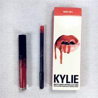Wholesale Newest kylie jenner lip kit Kylie Lip Gloss Lipstick Boxset Lipstick Lipliner Kylie Jenner Matte Lipstick colors Free Ship