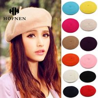 artist man - Women Artist Beret Autumn Winter Flat Cap Vintage Solid Colors Soft Felt Wool Beanie Hat Ladies Fashion Classic Berets Hat