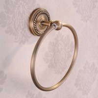 artistic rings - and Retail Wall Mounted Bathroom Artistic Towel Ring Antique Brass Towel Hanger Ring Holder towel holder HJ F