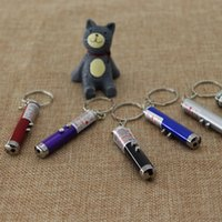 Cheap Mini 2 in 1 Versatile Laser Pen Led Light Keychain Key Rings Red White Light Support Customized Logo Promotion Gift outdoors keychain2016