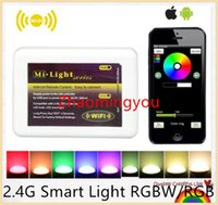 Wholesale 100 Original Dimmer Mi Light Wireless Wi fi LED Remote Controller WiFi Controller for G Smart Light RGBW RGB Lamp Bulb Strip