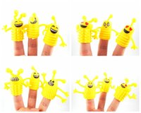 Wholesale 60pcs Novel yellow funny Emoji Finger Puppet For Telling Stories Halloween Funny fingers Toy