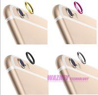 Wholesale 2000pcs Rear Camera Lens Protector Protective Ring for Apple iPhone s for iphone s plus optonal