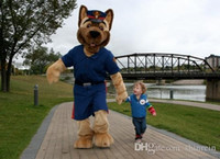 adult bear suits - Ohlees Actual Picture Police Bear dog suit Mascot Costumes Character For Halloween Party Activity Fancy Christmas Adult Size dress
