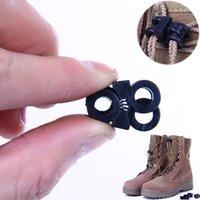 Wholesale pieces plastic Rapid shoelaces antiskid buckle outdoor camping equipment Convenient shoes buckle