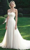 beach wedding dresses online - 2016 Strapless Beach Wedding Dress A line Sweetheart Lace Floor Length Tulle Bridal Gowns Online Custom Made