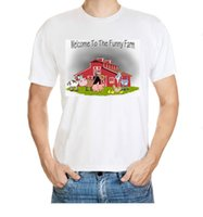 barn cartoon - Welcome To Funny Farm Horse Cow Pig Sheep Chicken Barn Boys And Girls Cartoon Pattern Men S Cotton T Shirt