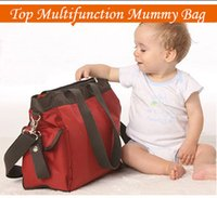 Wholesale Big Capacity Mummy Diaper Bags Mummy Baby Nappy Diaper Changing Maternity Shoulder Bag Top Multifunction Drop Shipping