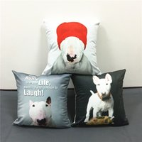 adult baby chair - 65 Styles Bull Terrier Schnauzer Dogs Pillows Cushions Covers Baby Kids Favor Soft Pillow Case Decorative Sofa Seat Chair Cushion Cover