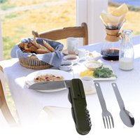 Wholesale Hot In Picnic Stainless Steel Folding Spoon Fork Knife Cutlery Traveling Tool New