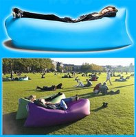 Wholesale Outdoor inflatable Sleeping pad Bags Sofa Lounge Couch Furniture Sleeping Lounger Air Bag Hangout Bean Bag Camping Beach Same as Lamzac