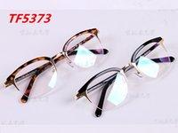 Wholesale TOM TF5373 the fashion glasses frame plate frame Korean men s and women half frame glasses