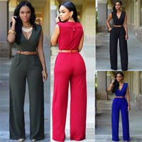 army outfits - 2016 Hot Sexy Women V neck Jumpsuit Clubwear Rompers Long Sleeves Slim Thin Basic Thermal Jumpsuit Rompers Outfit WY7824
