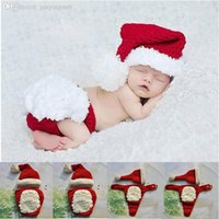 Wholesale Hand knit Christmas hats wool sweater baby vstinus handmade Cartoon sweater Beetle newborn photography props