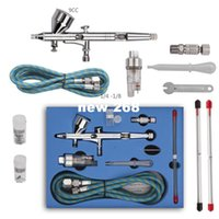 air pro spray gun - Pro Dual Action Airbrush Air Compressor Kit with mm mm mm Needles Nozzles