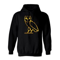 Wholesale Factory Price Men s Cotton Sportwear Coats Jogger Tracksuit Pullover Fleece Sweatshirt Hat collar Bird ovo Drake Black Red Hip Hop Hoodie