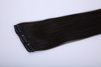 Wholesale Excellent quality super long clips in hair extensions human hair straight thick natural comfortable clips