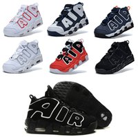 athletic shoes usa - 2016 AIR More Uptempo Scottie Pippen men Basketball Shoes red Black White USA Olympics high Quality Athletic Sport Sneaker Eur size
