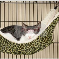 Wholesale Hot Warm Cat Bed Pet Hammock For Pet Cat Rest High quality leopard dot zebra stripe Cat House Soft Comfortable Cat Ferret Cage x37cm