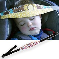 Wholesale High quality m quot Baby Car Seat Headrest adjustable plastic buckle Sleeping Head Support Pad Pillow For Kids Travel
