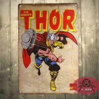 Wholesale Mighty Thor Retro TIN SIGN poster metal wall decor marvel comic superheroes Retro Tin Sign Street Rod for the Garage Man Cave