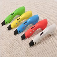 Wholesale Best Digital D Art Drawing Pen For Kid Free ABS Filament DIY D Printing Pen with OLED Screen ABS PLA3D Stereoscopic Printing Pen