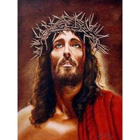 antique jesus pictures - Factory Diy Diamond Painting home decor Jesus Mosaic Pictures Modern gift Handmade wallpaper X40CM HWF