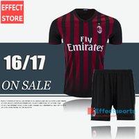 ac uniforms - Discount AC Milan kits soccer jerseys Uniforms New BACCA KAKA home black BONAVENTURA HONDA AC Milan football shirts men sets