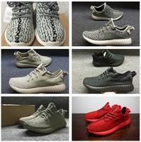 Cheap Kanye West Boost 350 Shoes Sport Running Sneaker Oxford Tan Pirate Black Moonrock Turtle Dove Gray Red Low Shoes Mens Trainers