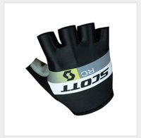 bicycle scott - Newest top Pro Team SKY Scott Tinkoff Cycling Gloves Half Finger Bicycle Green Black White Gloves Anti slip Road MTB Bike gloves
