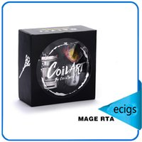 Wholesale Authentic CoilArt Mage RTA ml Capacity Top Refilling Tank mm Diameter with Two Post RTA Build Deck Atomizer