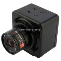 Wholesale 5MP HD MJPEG YUY2 mini CCTV surveillance metal industrial box free driver USB video Camera with mm manual focus lens