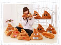 Wholesale emoji shit poop Pillows skins diameter cm cm cm cm cm cm cm cm cm All styles CE Cushion Cute brown Plush Gifts