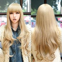Wholesale new fashion ladies long character dance pure color hair wigs cosplay wigs