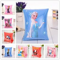 best swimming style - best price NEW ARRIVE swim Arm bands Various styles Inflatable Arm Sleeves Cartoon Princess Elsa Anna floating ring frozen swim ring