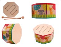 Wholesale Baby Toys Wooden Drum Stick Child Drum Infant Educational Toys Wooden Music Toy Instruments Birthday Gift