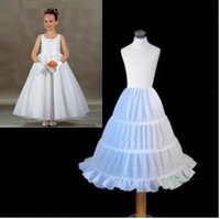ruffle yarn - White Kids Pettocoat Flower Girls Underskirt For Wedding Custume Crinolina Kids Accessories A line Hoops Cheap Crinoline