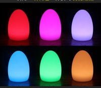 lamps stained glass - Bar egg charging LED lamp outdoor table decoration lamp colorful creative bar lamp table lamp egg bulb