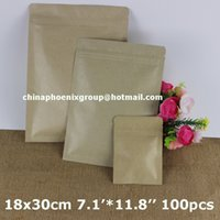 big brown paper bag - 18 cm quot big size Zip lock brown Kraft coffee tea paper Packaging bags bulk