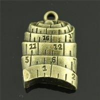 antique tape measure - 30pcs mm colors antique silver antique bronze plated Tape measure charms