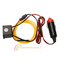 Wholesale R1B1 M Flexible Neon Cold Light Car Glow Strip EL Wire with V Inverter Yellow