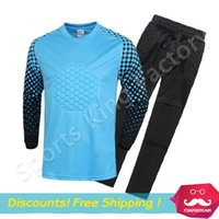Wholesale Goalkeeper Jersey Adult models long sleeved Goalkeeper clothing Without brand apparel soccer clothes jersey shirt kit